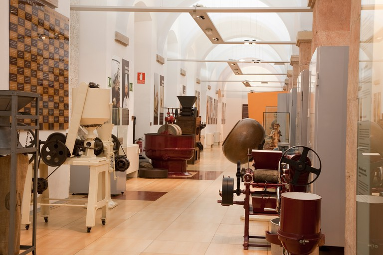 Interior of the Chocolate Museum in Barcelona, Catalonia, Spain