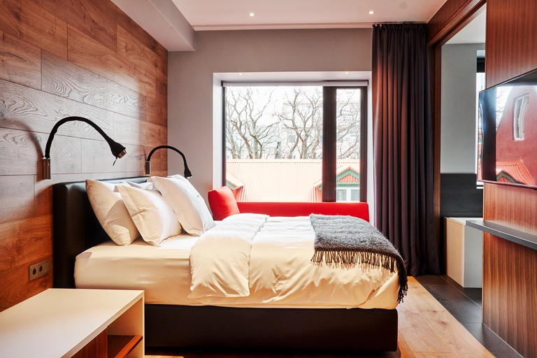 Rooms feature streamlined design with Icelandic touches
