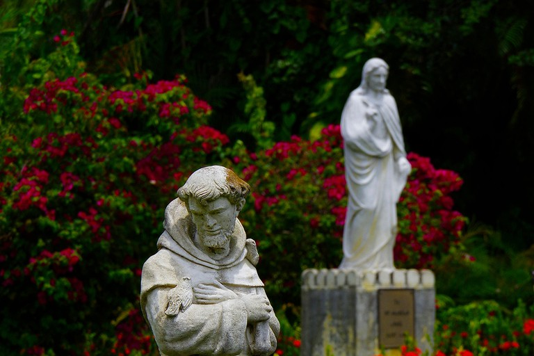 The Garden of St. Bernard de Clairvaux monastery