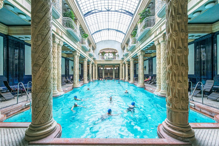The Gellért Baths are famed for their Art Nouveau-style architecture