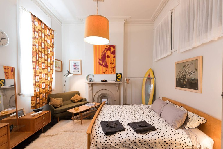Above-shop space with vintage charm