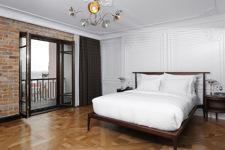 All rooms at Georges Hotel Galata have french windows that open onto balconies