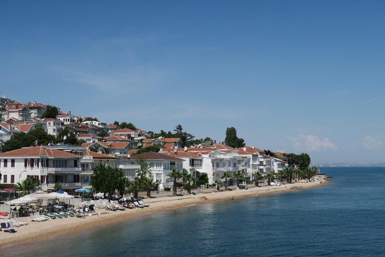 The beach near the Port of Prince Island Kinaliada