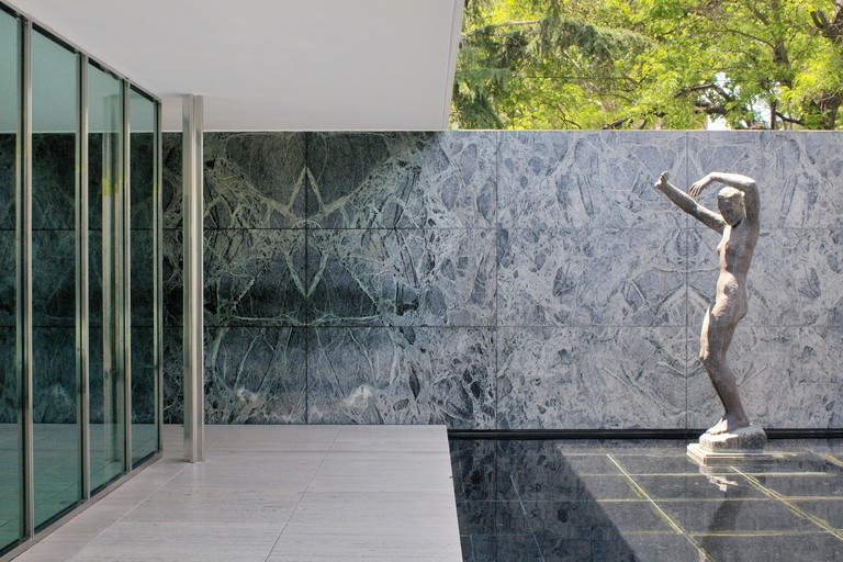 The Barcelona Pavilion was designed for the 1929 Universal Exhibition of Barcelona