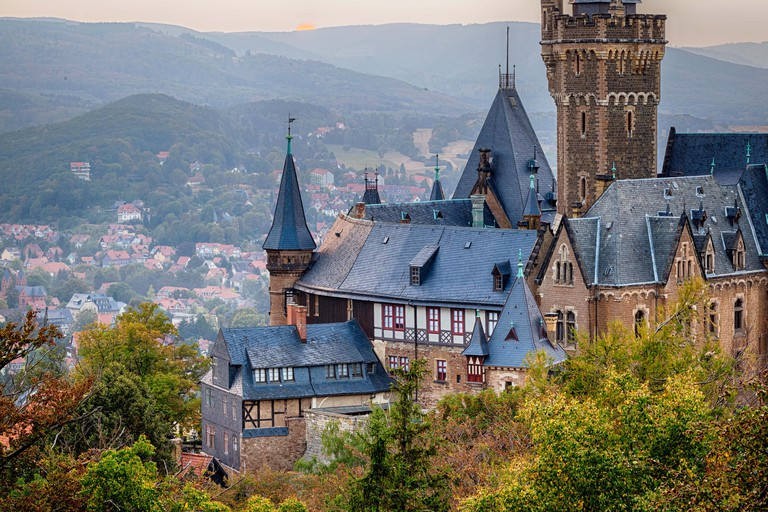 Blick auf das Schloss Wernigerode Harz