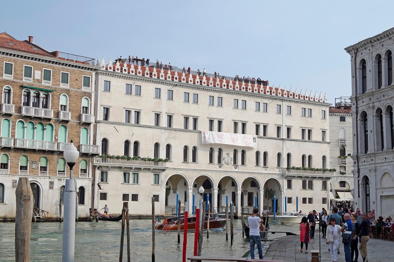 The Fondaco dei Tedeschi is one of Venice's most well-known buildings