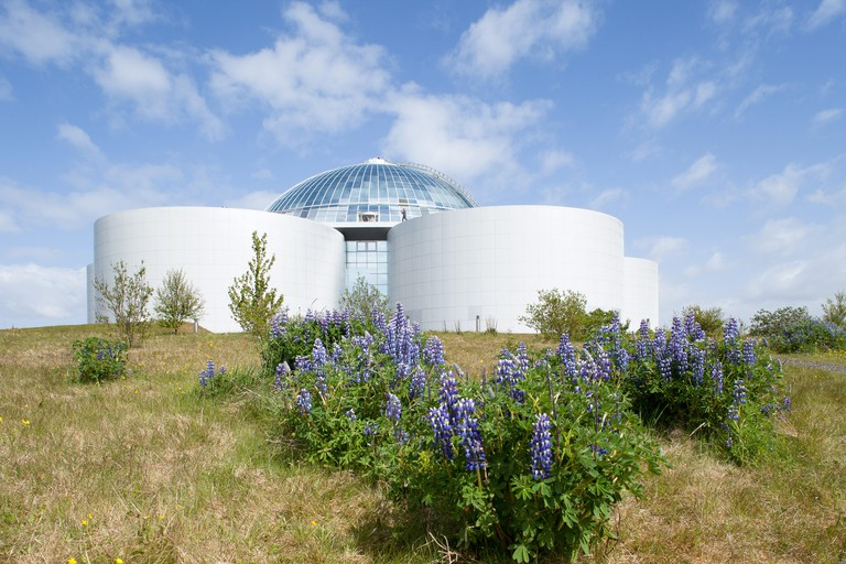The hot-water tanks of Perlan provide geothermal energy to the city of Reykjavik