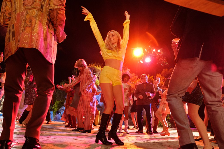 Margot Robbie's character, Sharon Tate, hits the dance floor in Tarantino's new film