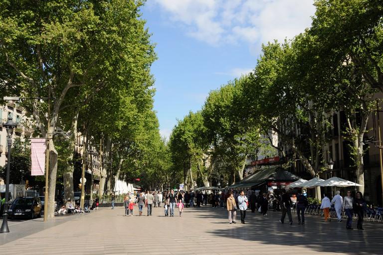 La Rambla is the most famous street in Barcelona