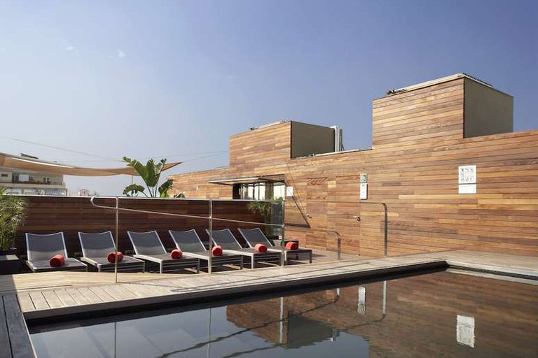 Rooftop pool at Hotel Soho Barcelona