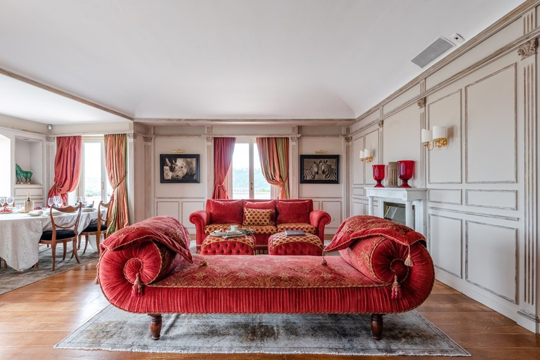 Luxurious furniture at Riverside Penthouse, Florence, Italy