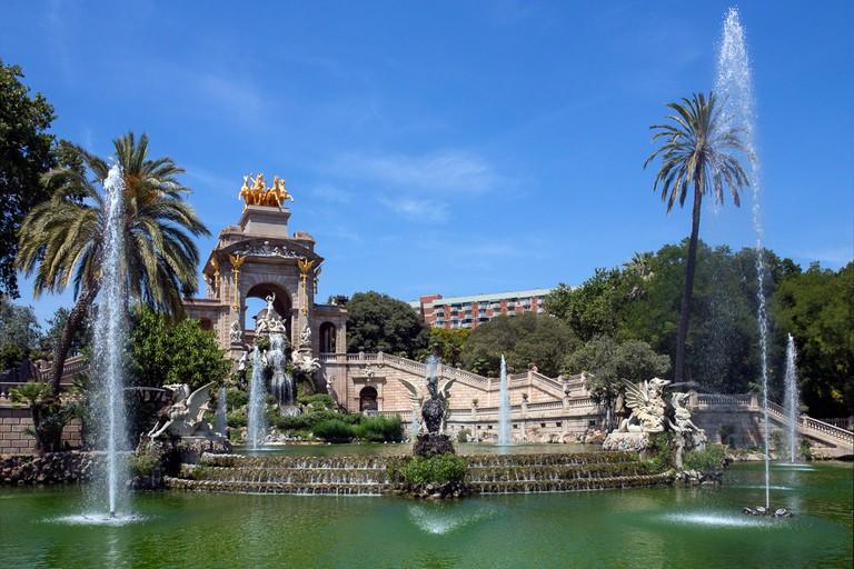 Ornamental fountains in the Parc de la Ciutadella
