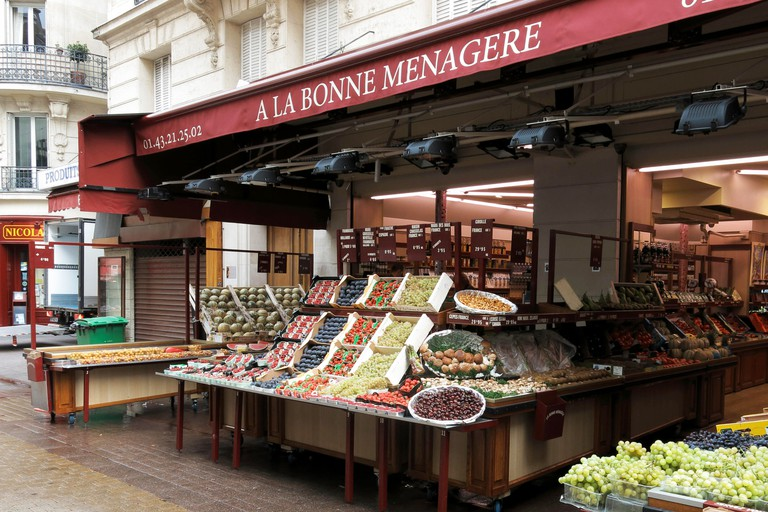 Fruit for sale at a shop in Paris, France