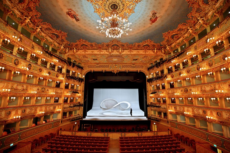 Inside Gran Teatro La Fenice, Sestiere di San Marco (district of St Mark), Venezia (Venice), Italy.