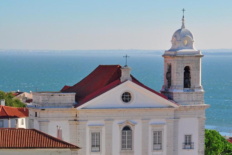 Sao Miguel church in Alfama, Lisbon, Portugal