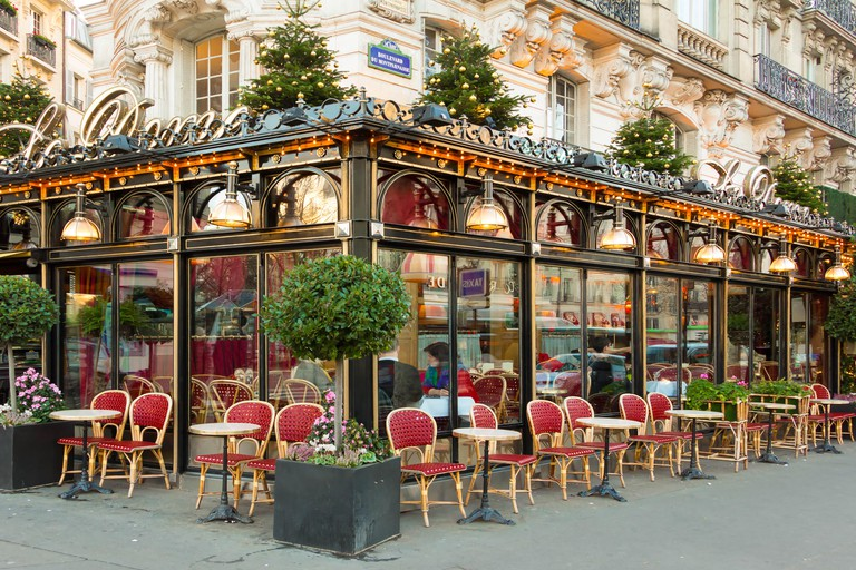 The famous restaurant Le Dome in Montparnasse, Paris.