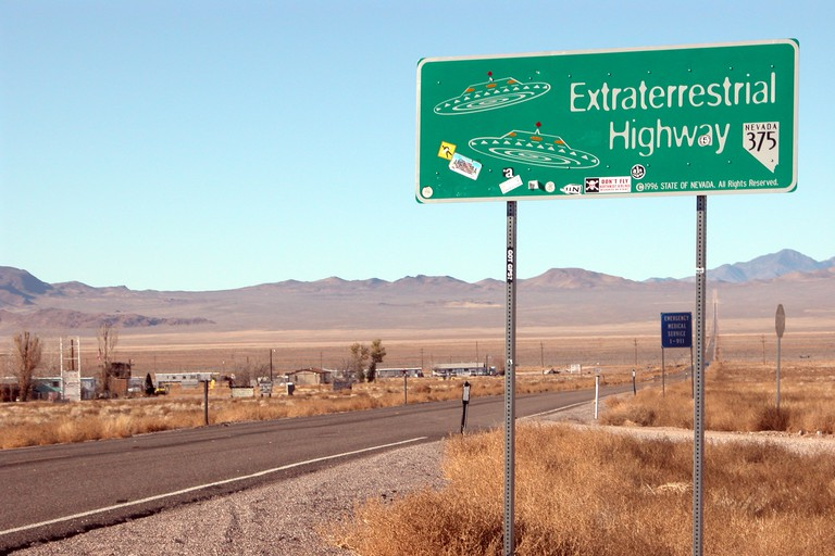 Extraterrestrial Highway near Area 51, Rachel, Nevada
