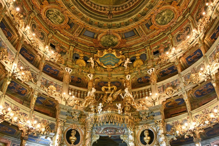 The Baroque-style Margravial Opera House reopened to the public in 2018 following years of restoration work