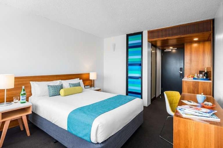 Guest room at Jasper Hotel
