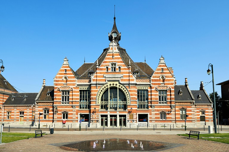The entrance of the Schaerbeek Train Station, in Carrefour de L'Europe
