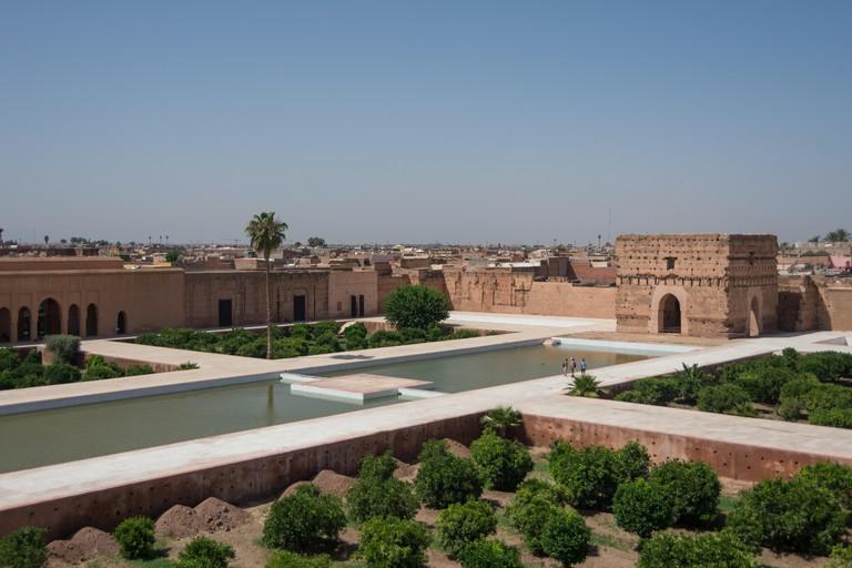 El Badi Palace or Palais El Badii in Marrakech, Morocco