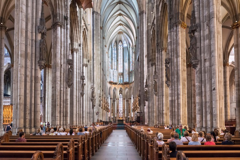 Cologne Cathedral is famous for its Gothic-inspired architecture