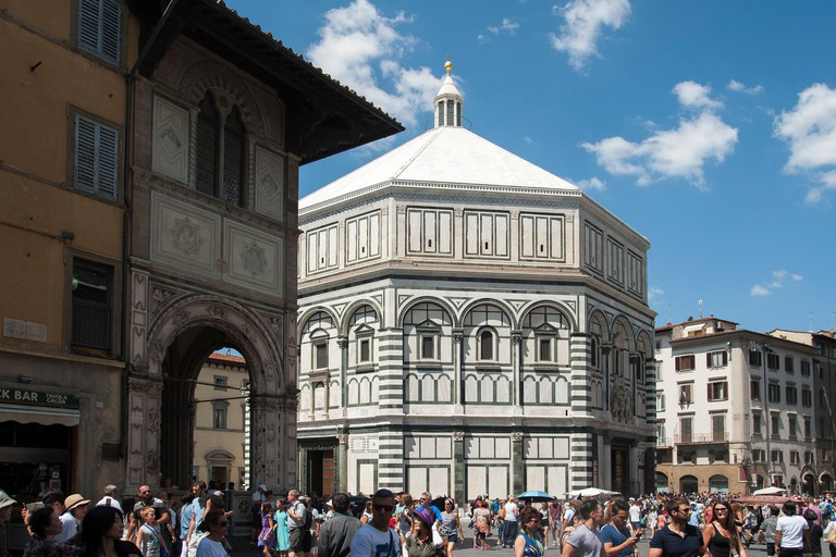 Romanesque Battistero di San Giovanni on Piazza San Giovanni in Historic Centre of Florence