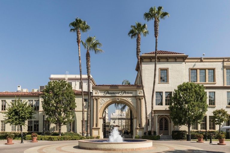 Entrance to Paramount Studios in Los Angeles, California