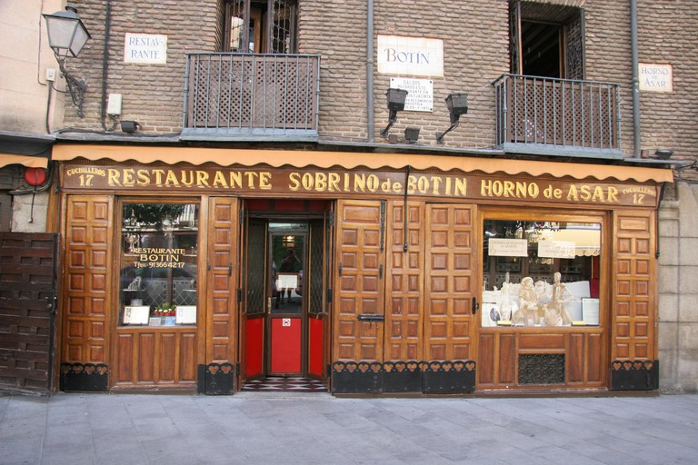 Restaurante Sobrino de Botín, Madrid, Spain.