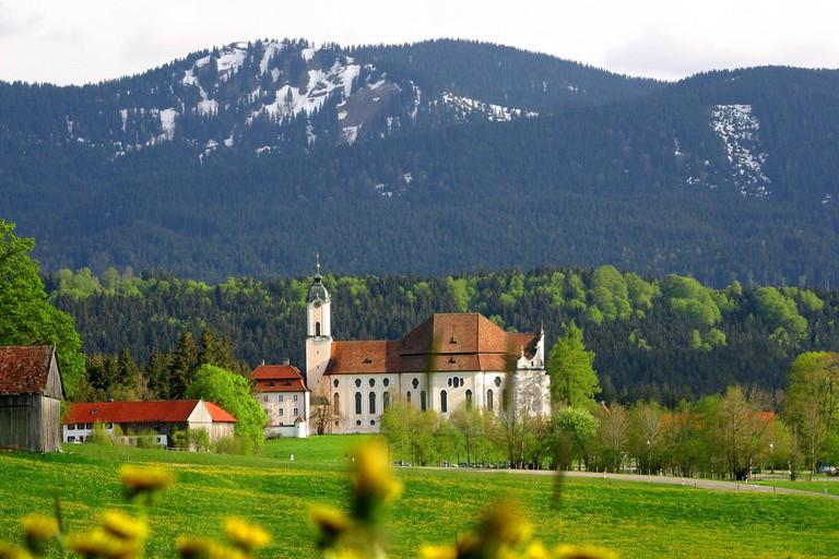 Wieskirche Pilgrimage Church near Steingaden, in the Pfaffenwinkel