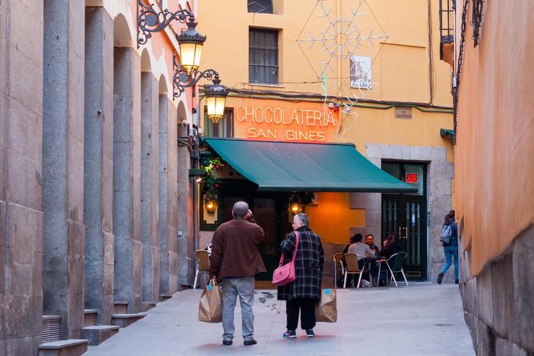 Chocolatería de San Ginés, Madrid.
