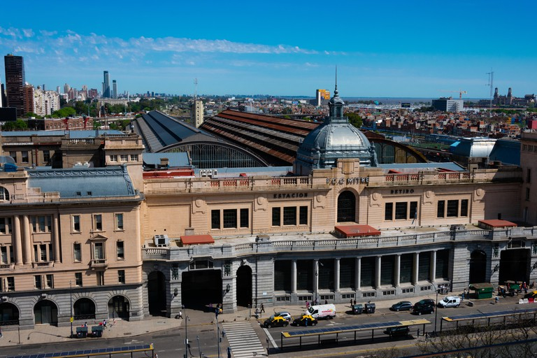 Buenos Aires, Argentina. October 26, 2019. Retiro Mitre railway station (Estacion de Tren Retiro Mitre). A railway terminus located in the district of