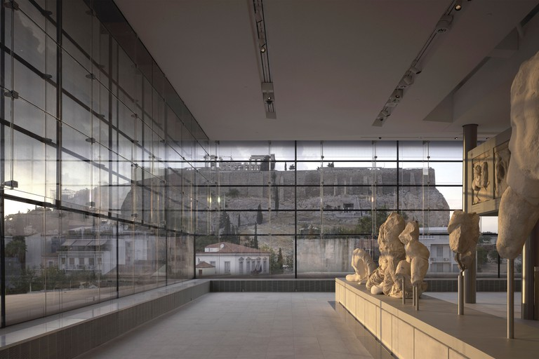 The Parthenon Gallery is the showpiece of the Acropolis Museum