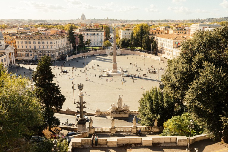 Gaze over one of Rome's most beautiful squares