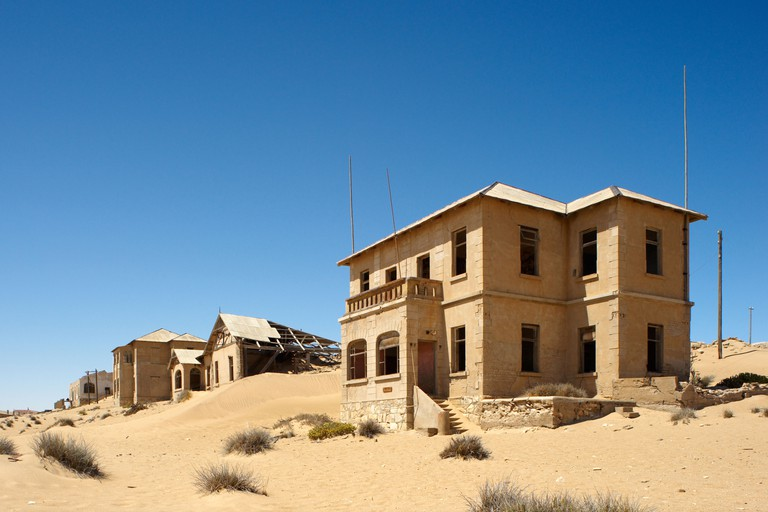 Kolmanskop Ghost Town, Namibia. Image shot 02/2011. Exact date unknown.
