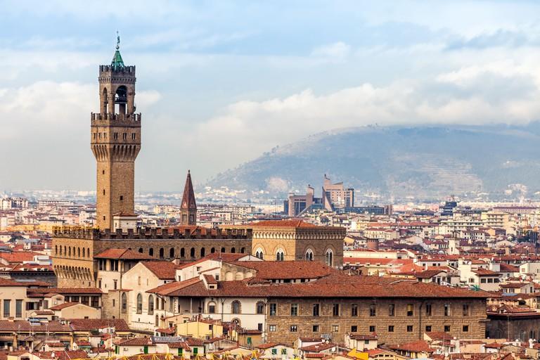 D2F7J1 View Of Palazzo Vecchio, Florence