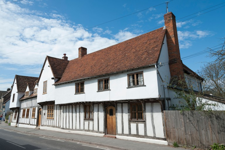 A beautiful old half timbered house in Ashwell Hertfordshire UK