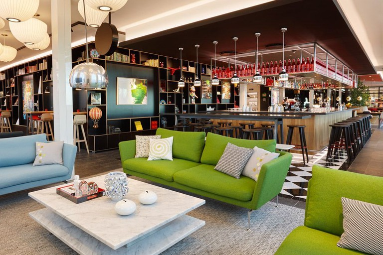 The decor at citizenM Copenhagen is colourful and stylish