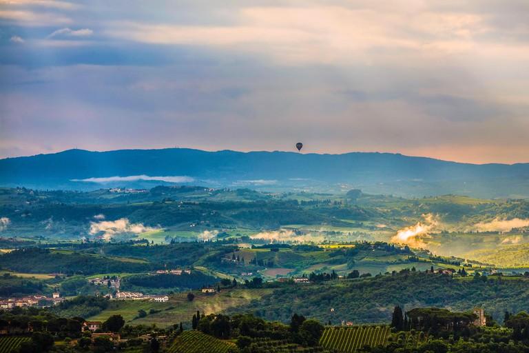 Italy Tuscany Florence Landscape around Gambassi Terme
