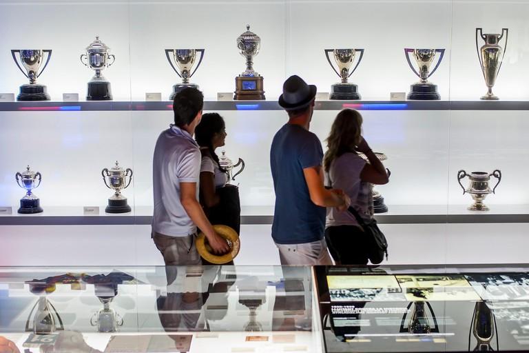 Museu FC Barcelona, FC Barcelona Museum, Nou Camp, Barcelona, Catalonia, Spain.