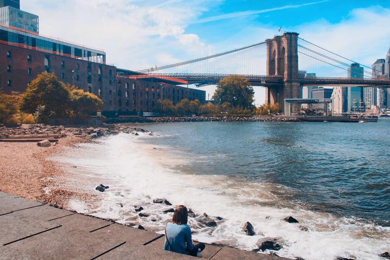 New York, Brooklyn bridge and DUMBO