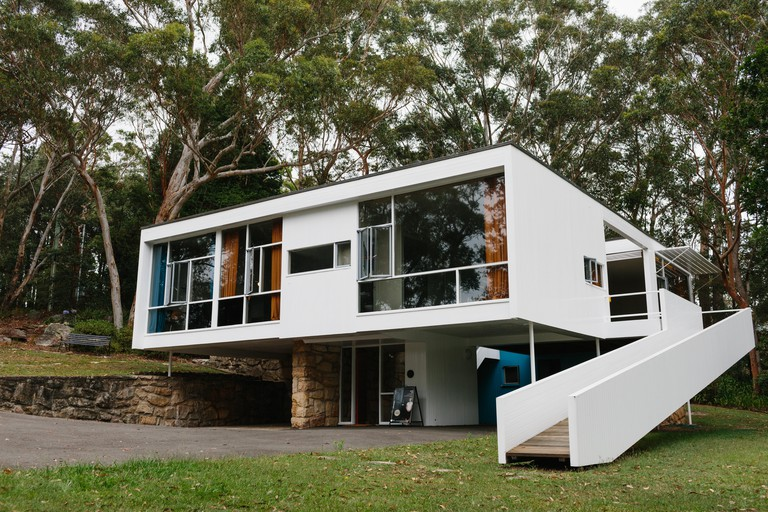 Front exterior of Rose Seidler House, part of the Sydney Living Museums, design by architect Harry Seidler for his parents