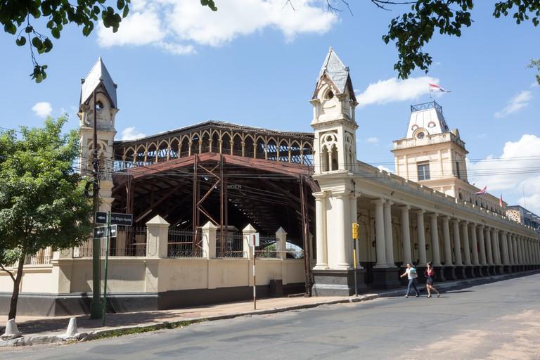 Facade of the Railway Museum (Museo Ferroviario) of Asuncion, Paraguay