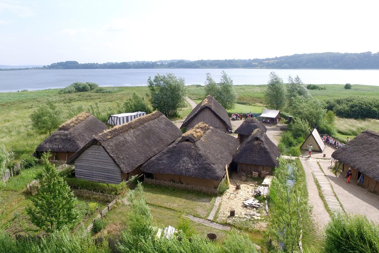 View of the site of the Viking houses in Hedeby.
