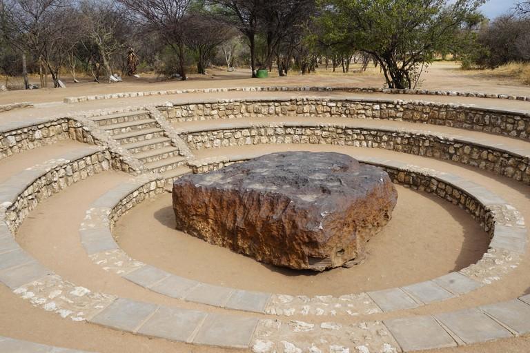 Hoba-Meteorit, grosster gefundener Meteorit der Erde, Hoba West Farm, Republik Namibia, Afrika