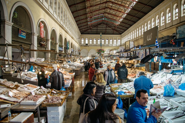 Varvakeios is the biggest food market in Athens