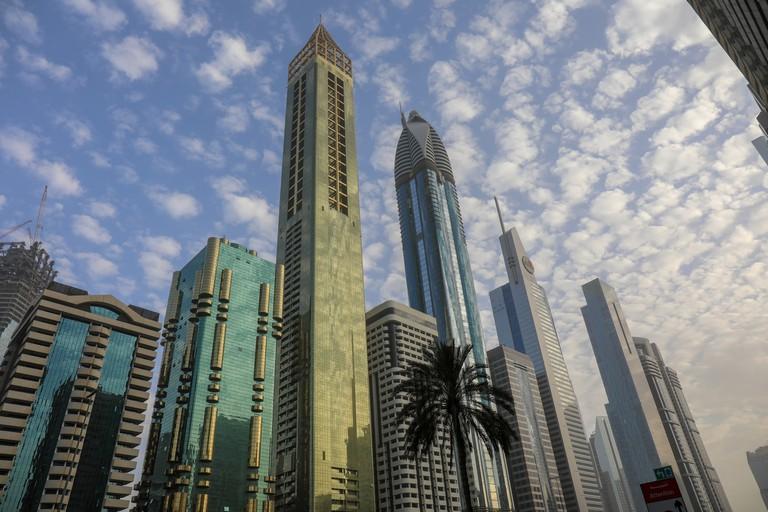 Beautiful View from Level 43 Sky lounge Dubai.