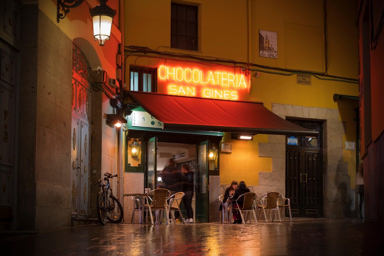San Gines cafe in Madrid