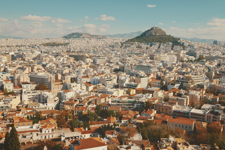 Mount Lycabettus is the highest point in Athens