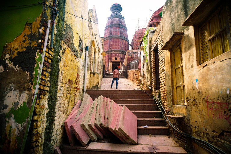 Temple in the back streets of Vrindavan